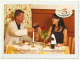 Einladung für ein Romantikdinner